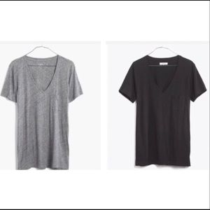 💕2 for$25 New Madewell Whisper Cotton V- Neck Tee